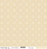 Calque motif azulejos -  Beige