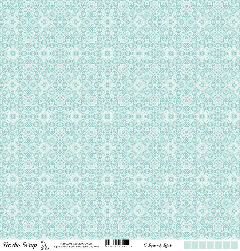 Calque motif azulejos - Turquoise