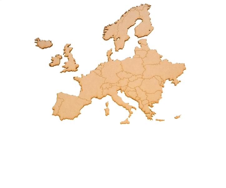 CARTE D EUROPE A COLLER MDF 3 MM
