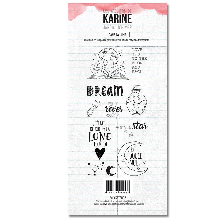 Clear Stamp Jardin d\'Hiver Dans la lune - Les Ateliers de Karine