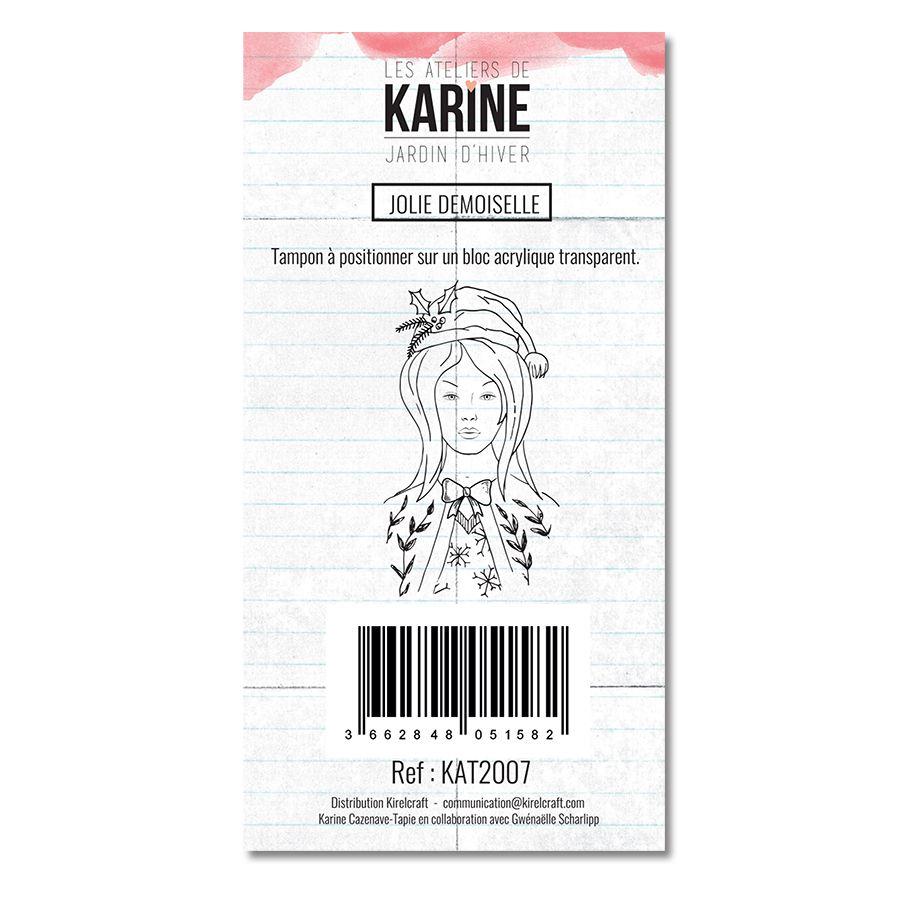 Clear Stamp Jardin d\'Hiver Jolie Demoiselle - Les Ateliers de Karine