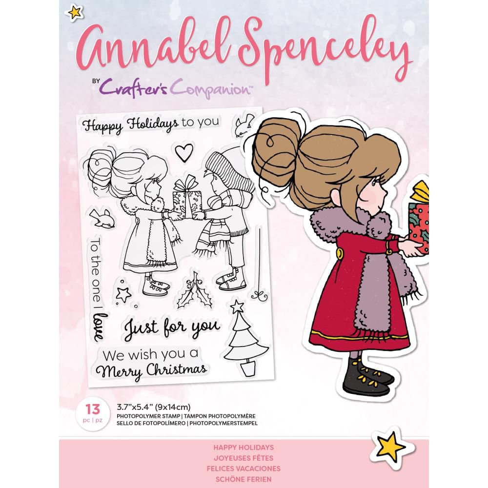 Clear Stamps By Annabel Spenceley - Happy Holidays