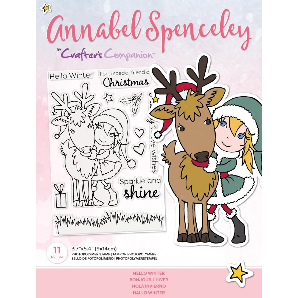 Clear Stamps By Annabel Spenceley - Hello Winter