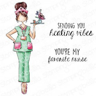 Cling Stamps Curvy Girl Nurse