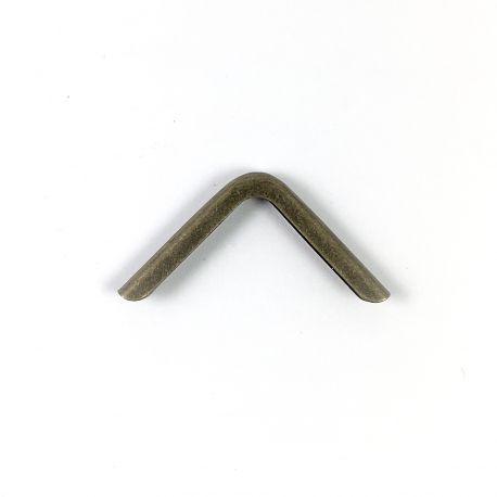 COIN MÉTAL FIN BRONZE 24 X 24 MM