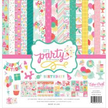 COLLECTION DE PAPIERS 30.5 X 30.5 CM Let\'s party