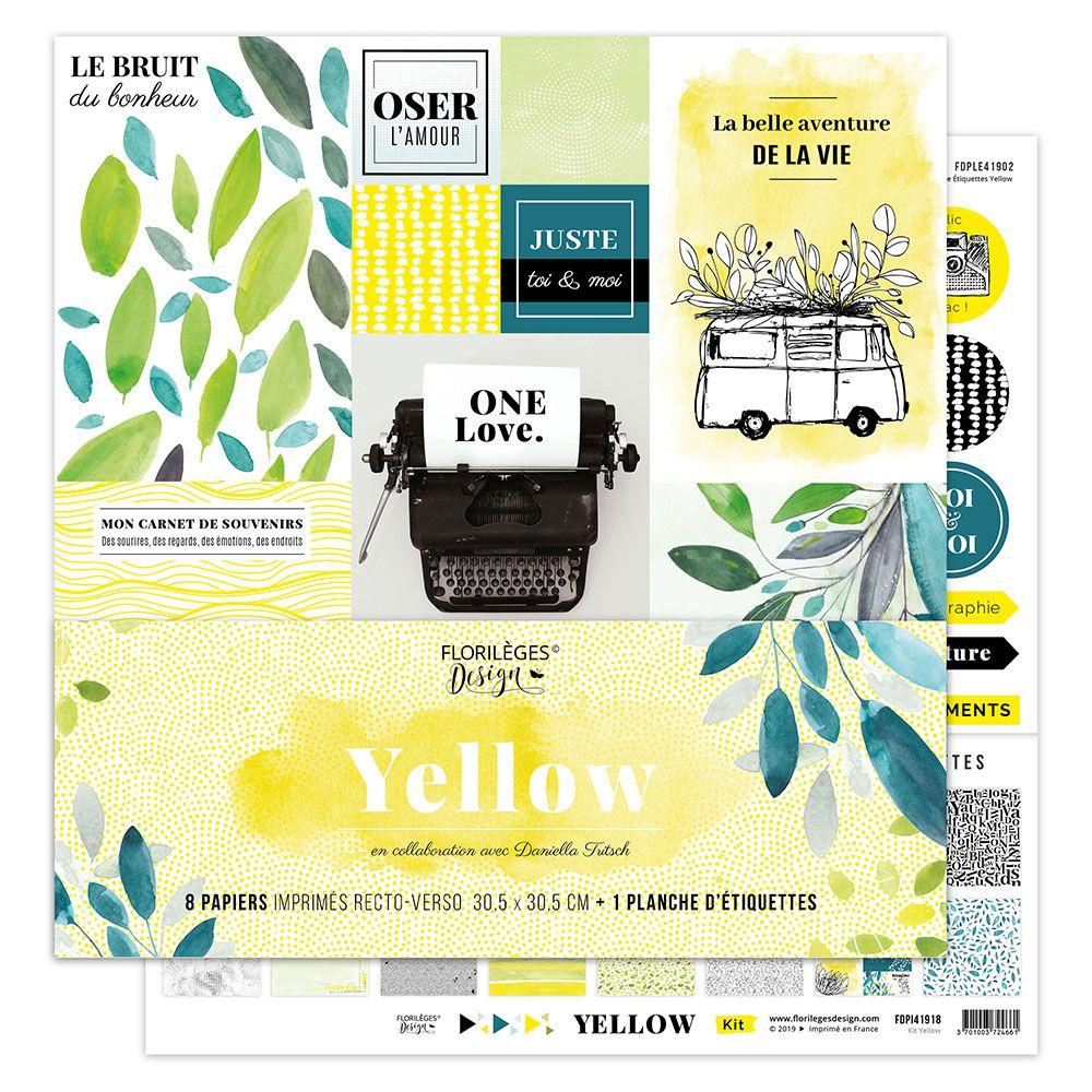 COLLECTION DE PAPIERS IMPRIMES - Yellow