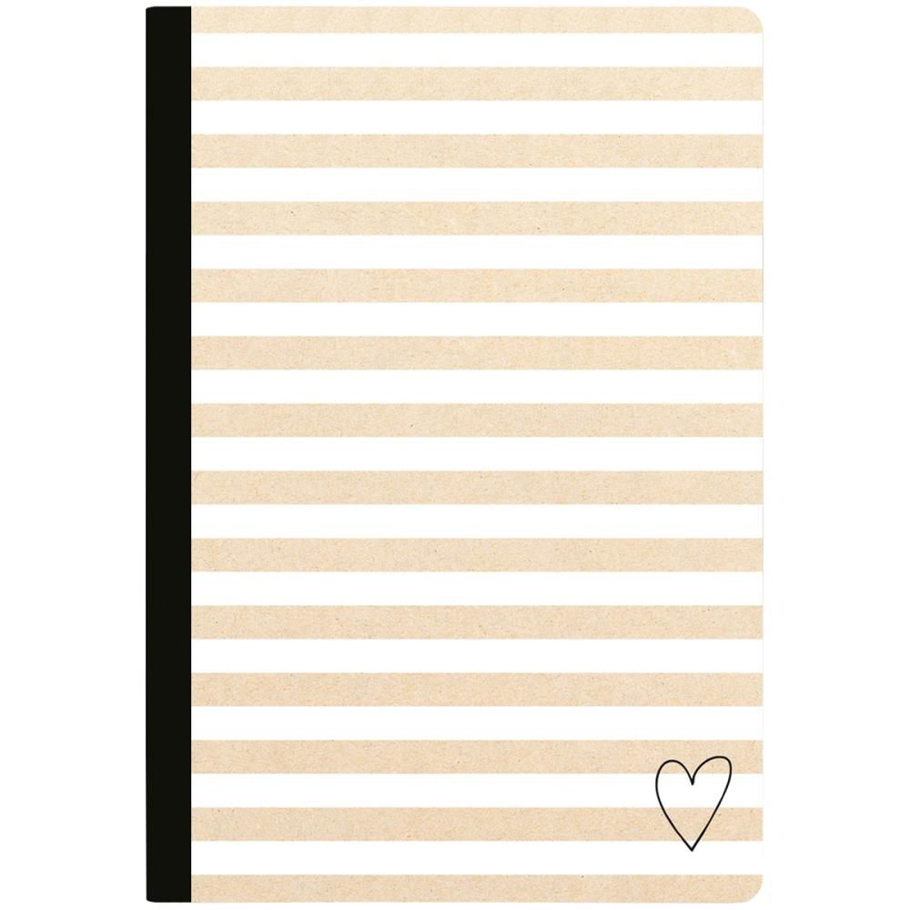 """Color Crush Composition Planner Notebook 7.5\""""X9.75\"""" Kraft Stripe W/80 Lined Sheets"""