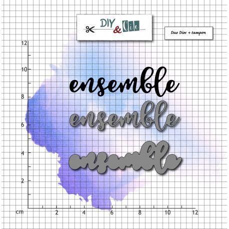 COMBO DIES ET TAMPON TRANSPARENT - Ensemble