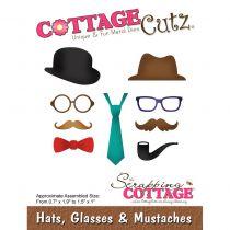 Cottage Cutz Die Hats, Glasses & Mustaches
