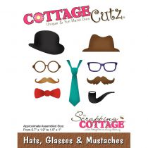 Cottage Cutz Die Hats, Glasses & Mustaches