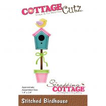 Cottage Cutz Die Stitched Birdhouse