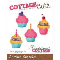 Cottage Cutz Die Stitched Cupcakes