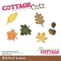 Cottage Cutz Die Stitched Leaves