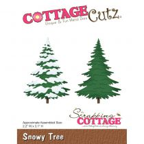 CottageCutz Die snowy tree