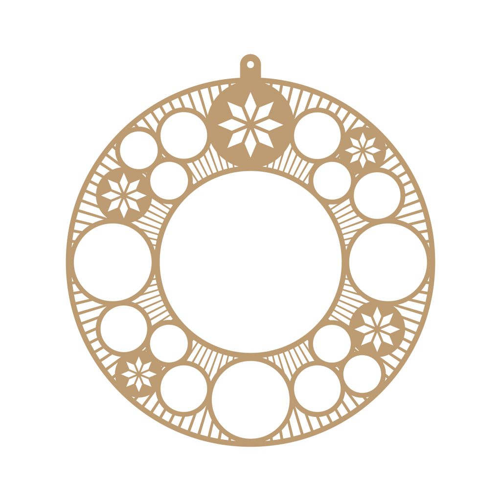 COURONNE DE NOEL 2018 A DECORER MDF 3 MM