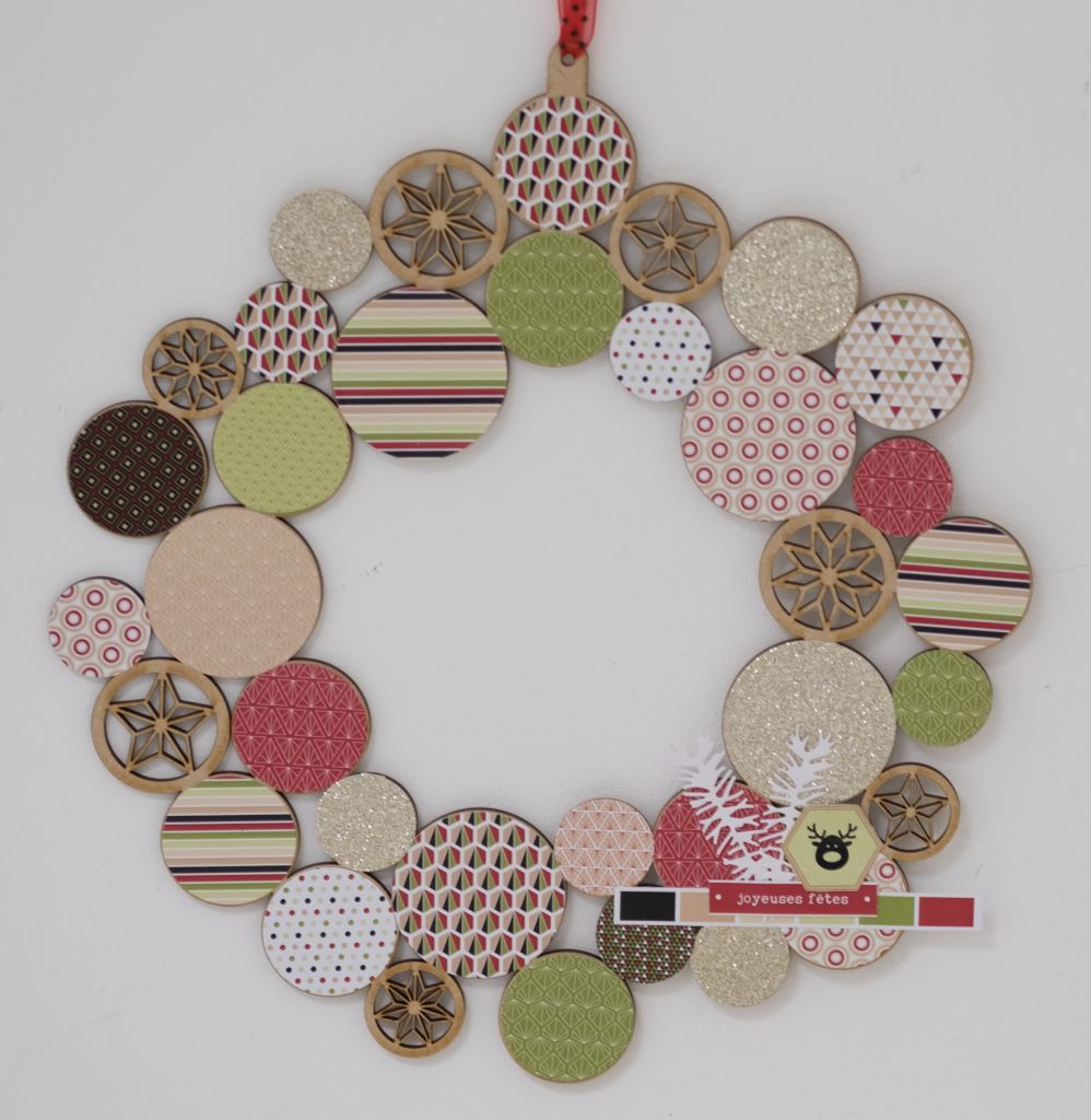COURONNE DE NOEL A DECORER MDF 3 MM