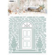 Die + plaque à embosser Winter charm n°07