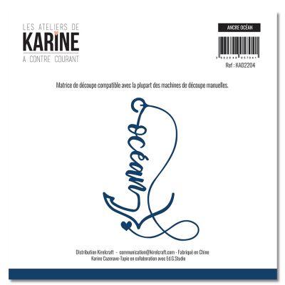 Die A contre courant Ancre marine -Les Ateliers de Karine