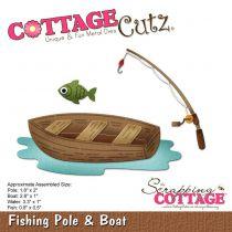 DIE CANNE A PECHE ET BATEAU - Fishing Pole & Boat