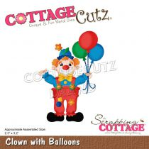 "Die Clown With Balloons 2.3""X3.2\"""