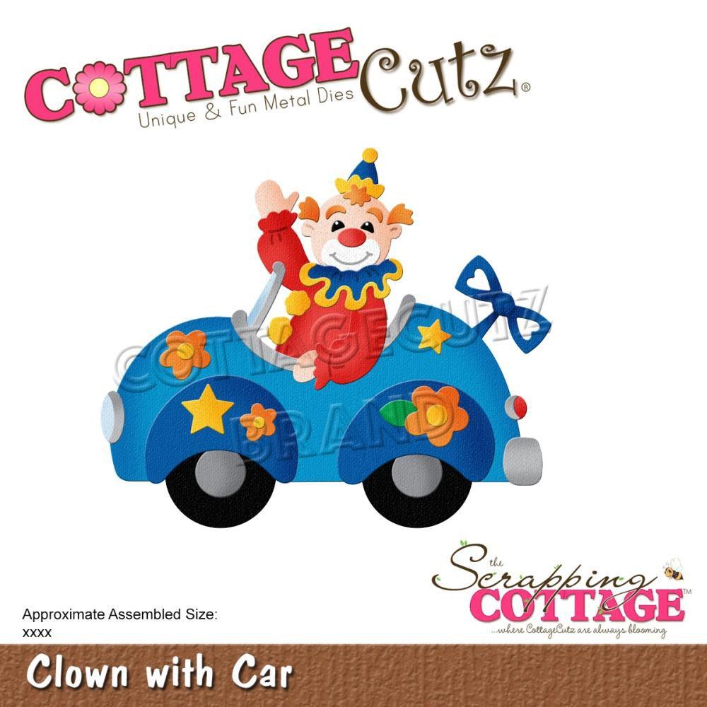 """Die Clown With Car 3.3\""""X2.8\"""""""
