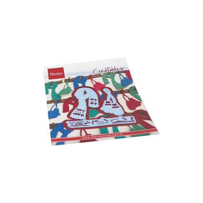 Die Creatable Mittens & scarf set