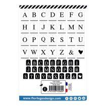 DIE CUTS ETIQUETTES - Alphabet Blanc Noir