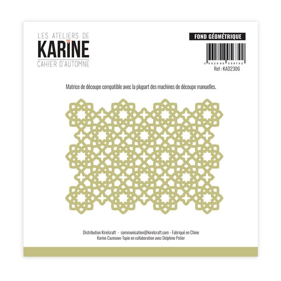 Die Fond géométrique - Les Ateliers de Karine