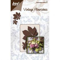 Die vintage flourishes chestnut leaves