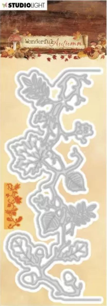 Die wonderful autumn couronne bordure de feuilles