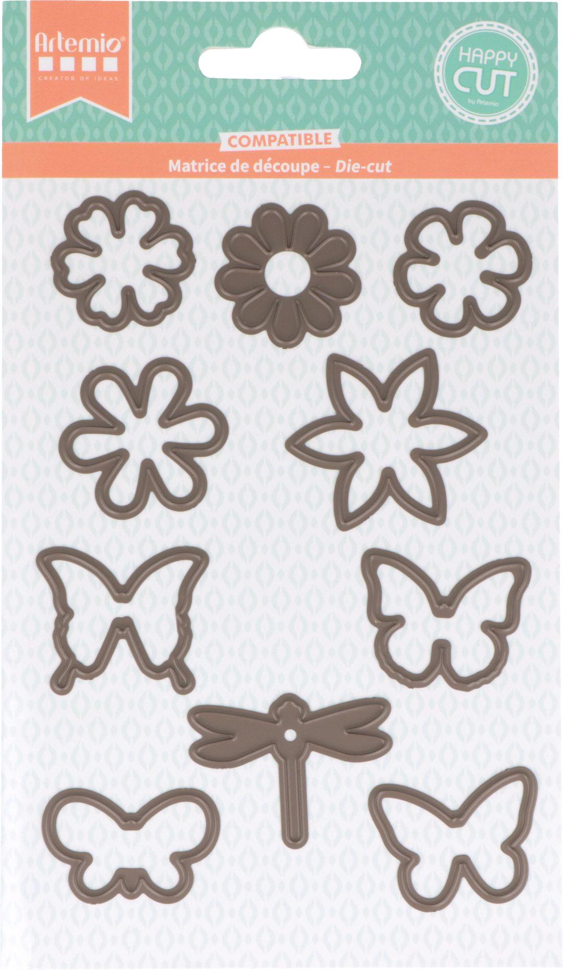 DIES - Fleurs et Papillons