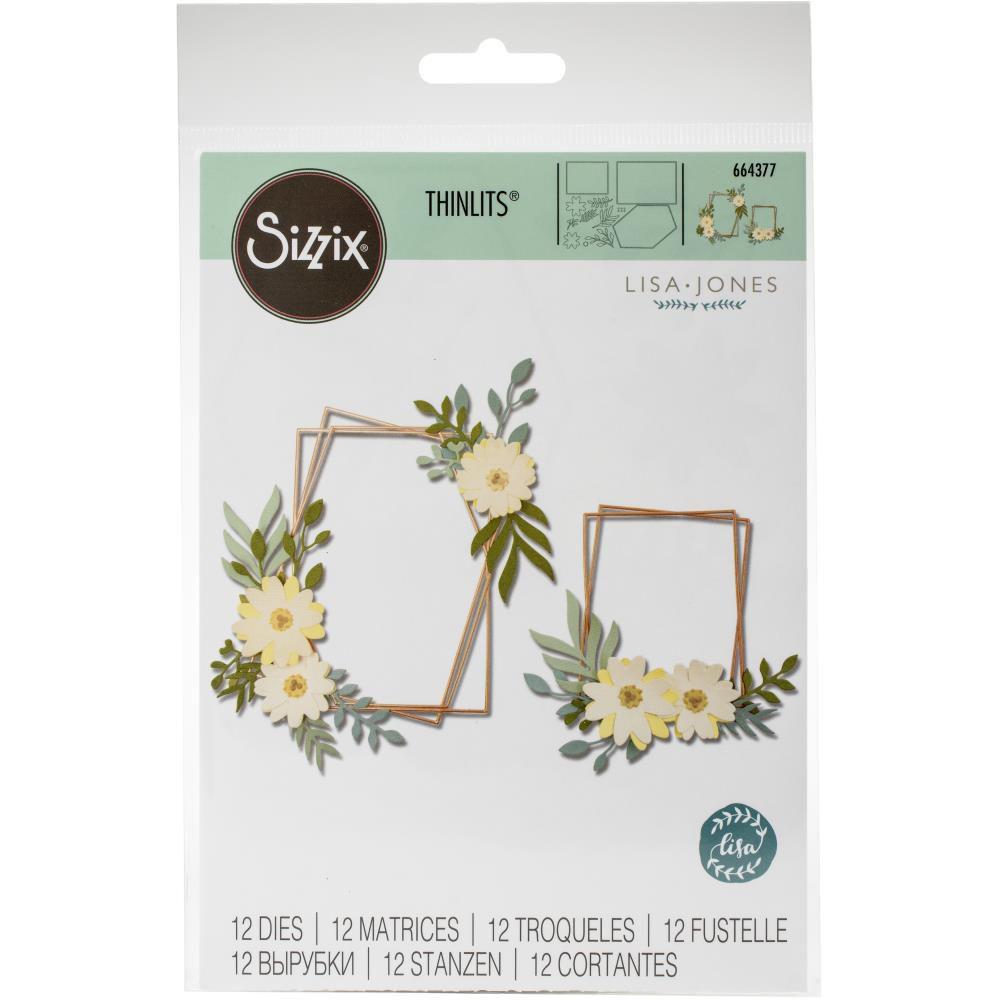 DIES CADRE AVEC FLEURS - Geo Floral Frame
