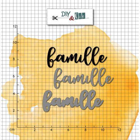 DIES ET TAMPONS TRANSPARENTS - Famille