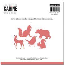 Dies Jardin d\'Hiver Animaux des bois -Les Ateliers de Karine
