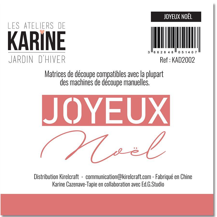Dies Jardin d\'Hiver Joyeux NOEL -Les Ateliers de Karine