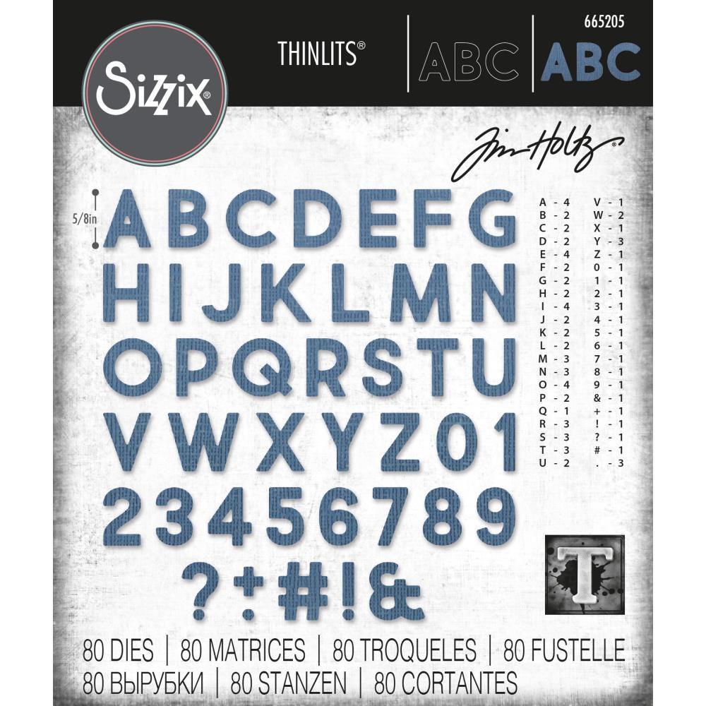 Dies Thinlits By Tim Holtz Alphanumeric Bold