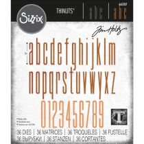 Dies Thinlits By Tim Holtz Alphanumeric Stretch Lower & Numbers