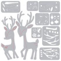 dies thinlits Christmas Deer