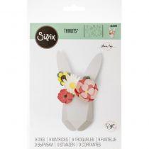 DIES THINLITS LAPIN ORIGAMI - Origami Rabbit