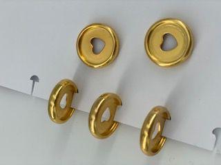 Disque de reliure en plastique 2,2 cm or avec coeur