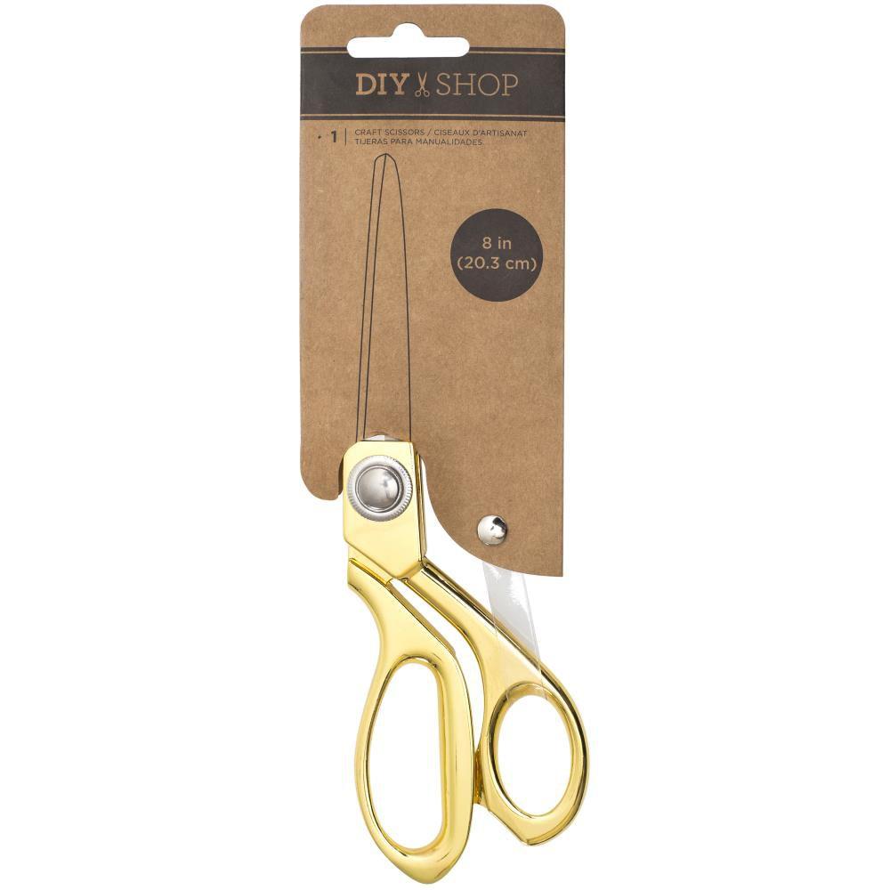 "DIY Shop Craft Scissors 8\"" Gold Metal"