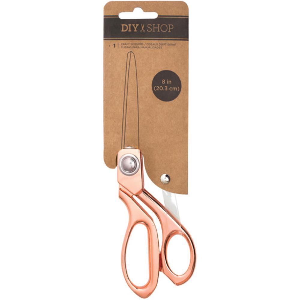 "DIY Shop Craft Scissors 8\"" Rose Gold"