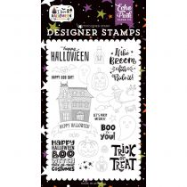Echo Park Stamp I love halloween Boo To You