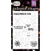 Echo Park Stamp I love halloween Too Cute To Spook