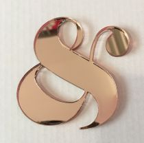EMBELLISSEMENT PLEXI 3MM ESPERLUETTE ROSE GOLD