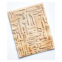 """Embossing 3D Folder 4.5\""""X5.75\"""" Toolshed"""