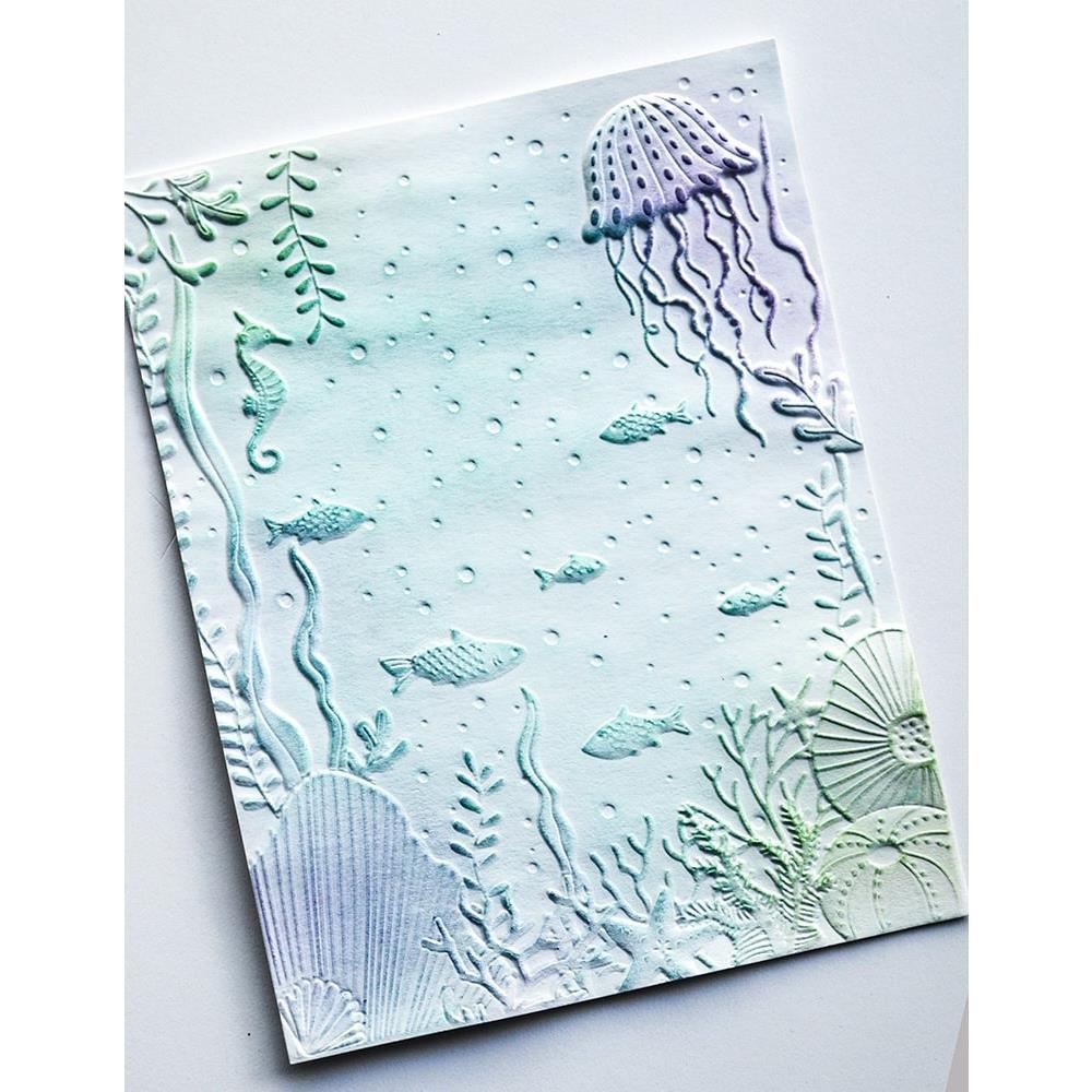 "Embossing 3D Folder 4.5\""X5.75\"" Underwater"
