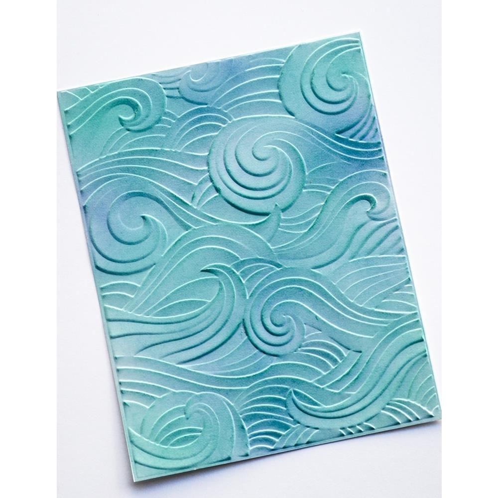 "Embossing 3D Folder 4.5\""X5.75\"" Waves"