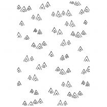 EMBOSSING FOLDER MOUNTAINS